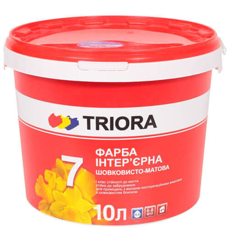 Краска акриловая TRIORA стойкая к мытью 10л - PRORAB image-1