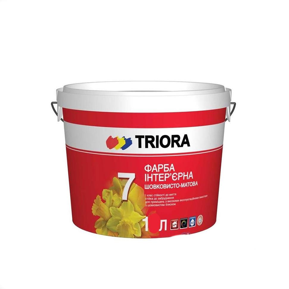 Краска акриловая TRIORA стойкая к мытью 1л - PRORAB image-1