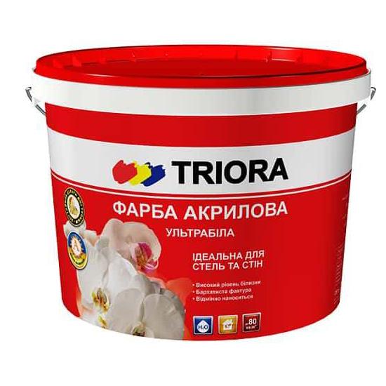 Краска акриловая TRIORA ультрабелая 3л - PRORAB image-2