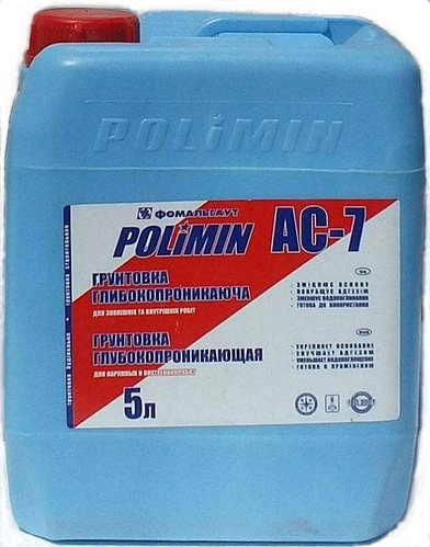 Грунтовка POLIMIN АС-7 5л - PRORAB
