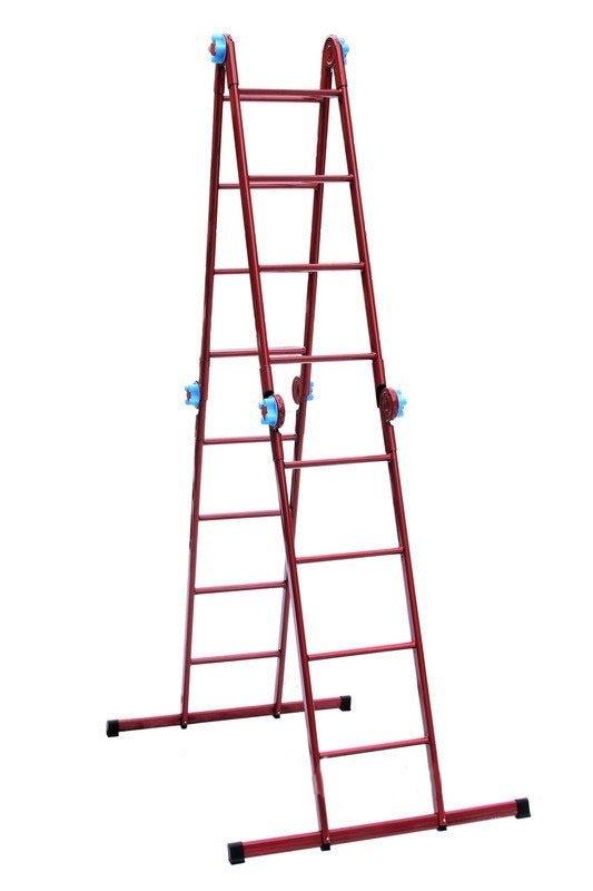 Лестница-стремянка шарнирная ТЕХНОЛОГ 4 * 4 ступеней - PRORAB image-4
