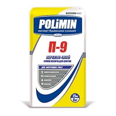Клей для плитки POLIMIN П-9 25кг - PRORAB image-1
