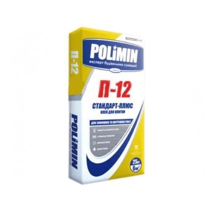 Клей для плитки POLIMIN универсальный П-12 25кг - PRORAB