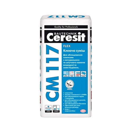 Клей для плитки CERESIT СМ-117 25кг - PRORAB image-2