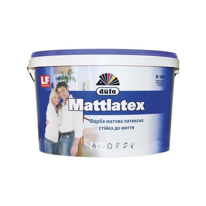 Краска DUFA Mattlatex D100 3,5кг латексная - PRORAB image-1