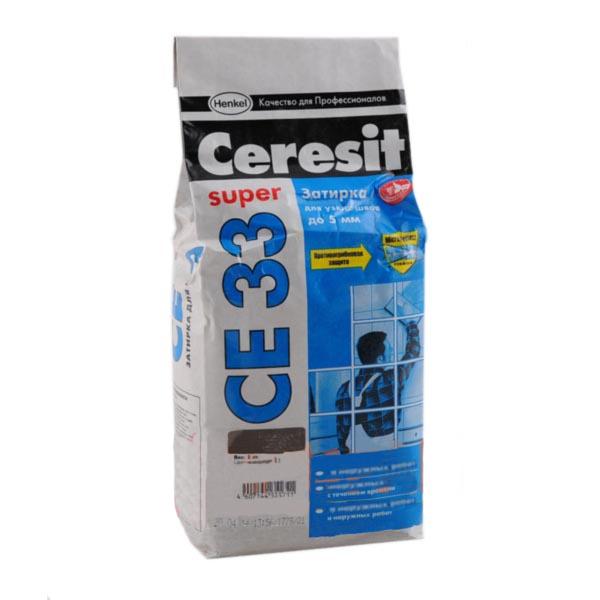 Затирка CERESIT СЕ-33 антрацит 2кг - PRORAB image-1