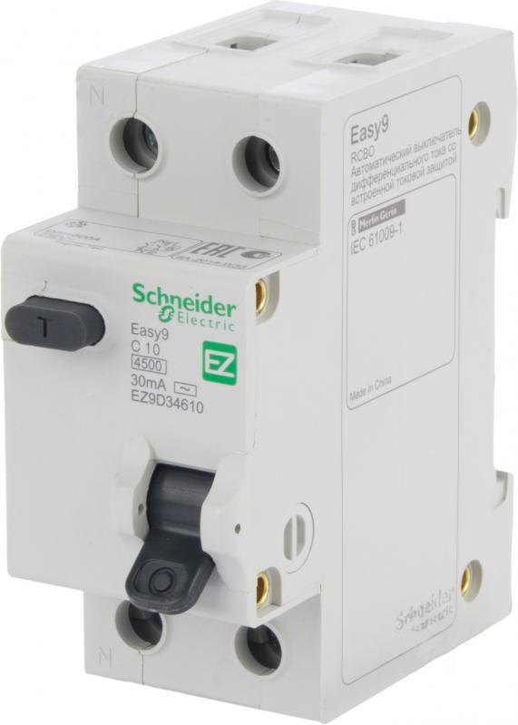 Дифференциальный автомат SCHNEIDER ELECTRIC 1р + N 10А 30мА С АС EZ9D34610 - PRORAB image-16
