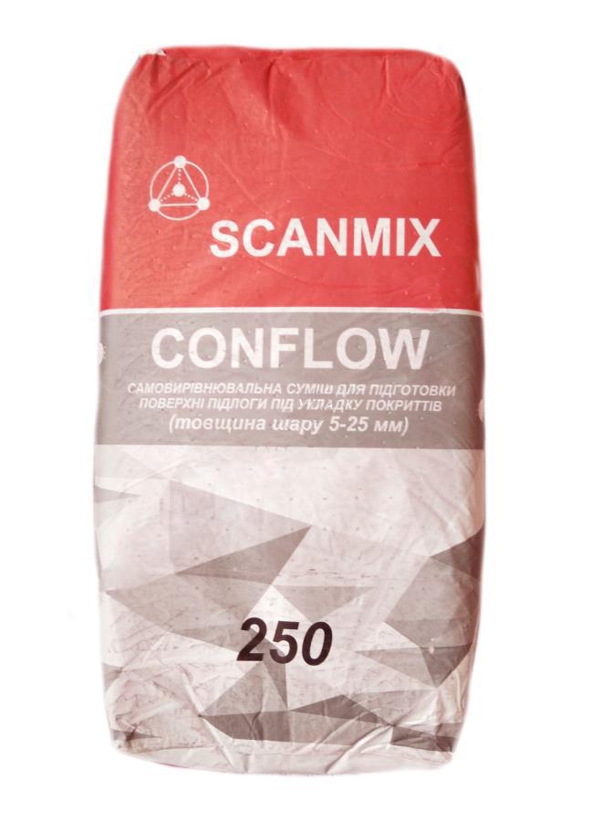 Самовыравнивающаяся смесь SCANMIX CONFLOW 250 25кг - PRORAB image-2