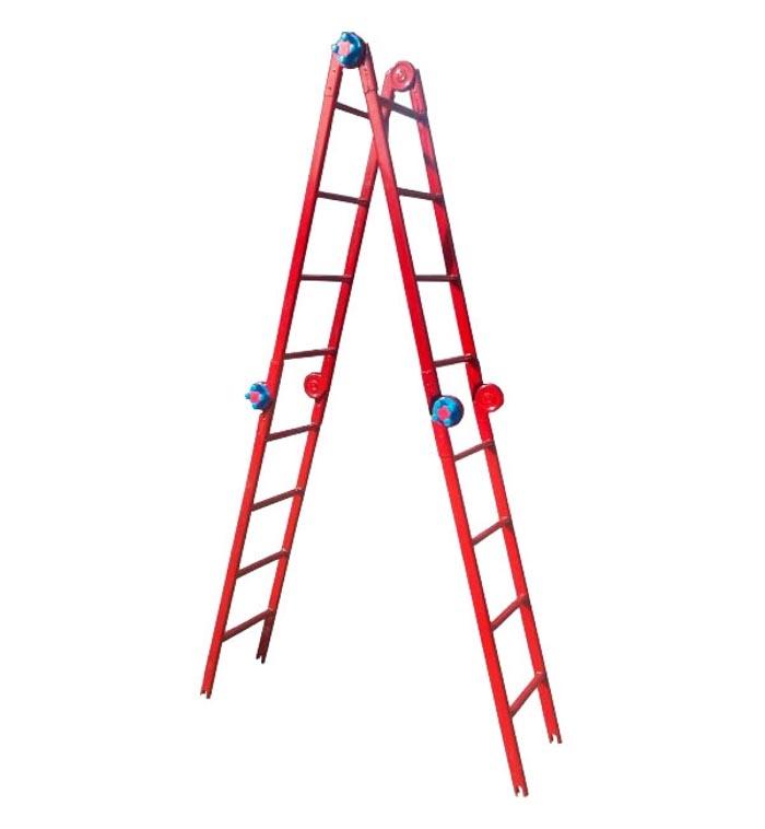 Лестница-стремянка шарнирная ТЕХНОЛОГ 3 * 4 ступеней - PRORAB image-4