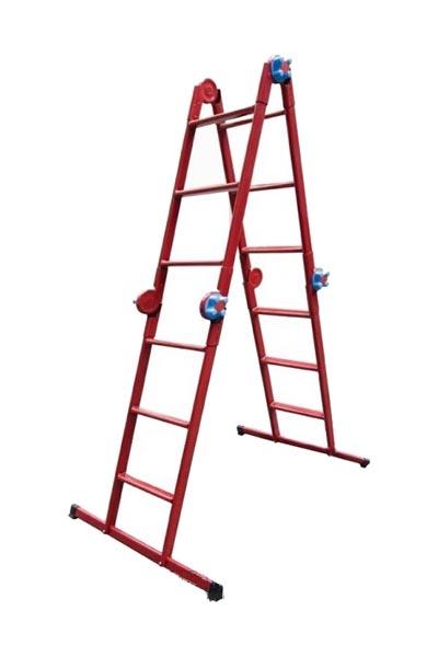Лестница-стремянка шарнирная ТЕХНОЛОГ 4 * 4 ступеней - PRORAB image-1