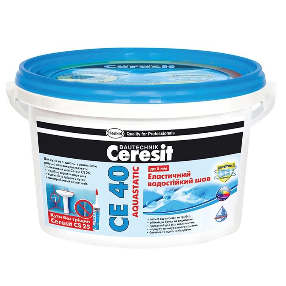 Затирка CERESIT СЕ-40 кирпичный 2кг - PRORAB image-1