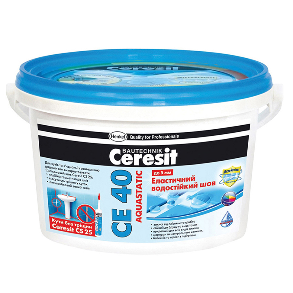 Затирка CERESIT СЕ-40 темно-синяя 2 кг - PRORAB