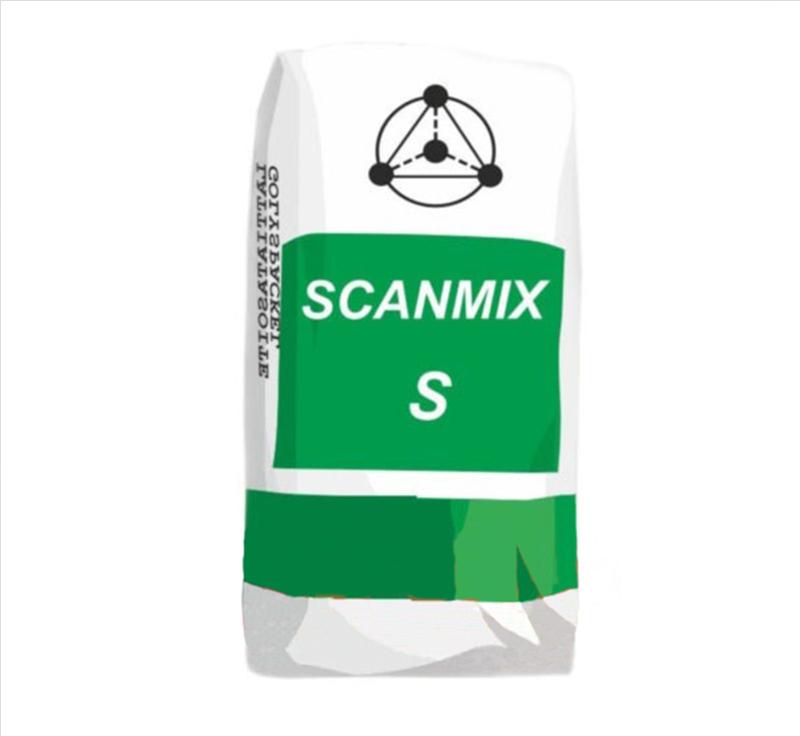 Шпатлевка фасадная SCANMIX S финишная белая 20кг - PRORAB