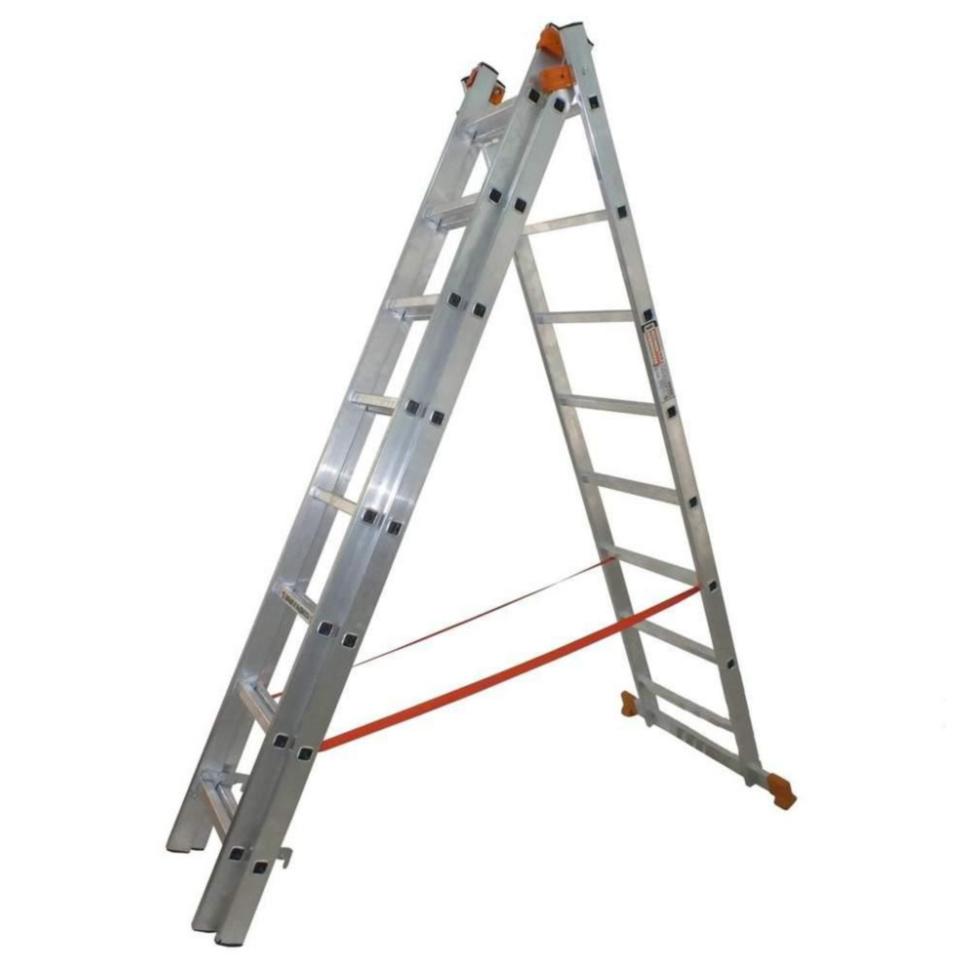 Лестница универсальная 3-секционная BUDFIX 3 * 8 ступеней - PRORAB