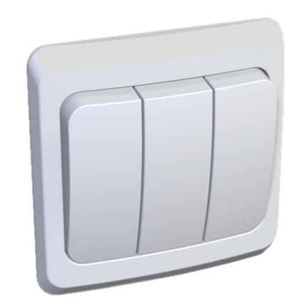 Выключатель VIKO Carmen 3-клавишный, внутренний белый - PRORAB image-1