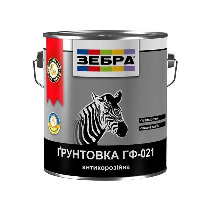 Грунтовка антикоррозийная ZEBRA ГФ-021 0,9кг 87 красно-коричневая - PRORAB