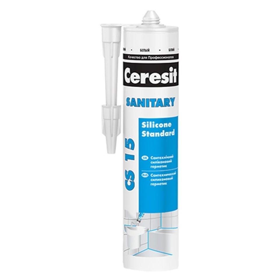 Герметик силиконовый CERESIT CS-15 санитарный 280мл прозрачный - PRORAB