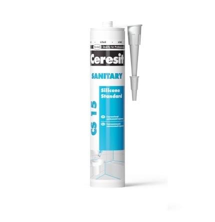 Герметик силиконовый CERESIT CS-15 санитарный 280мл белый - PRORAB