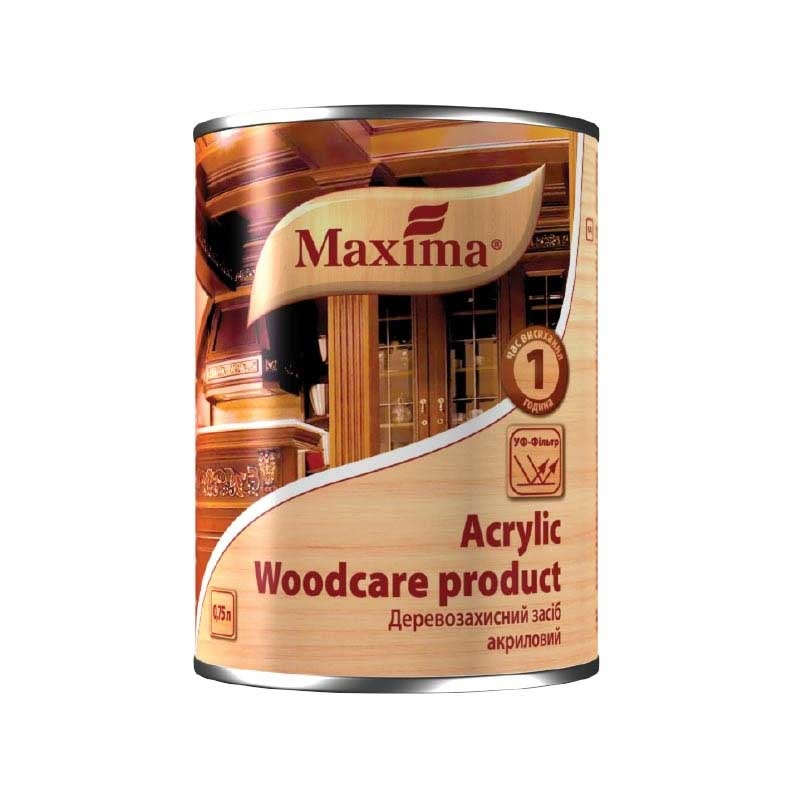 Деревозащитный средство MAXIMA Acrylic 0,75 рябина - PRORAB
