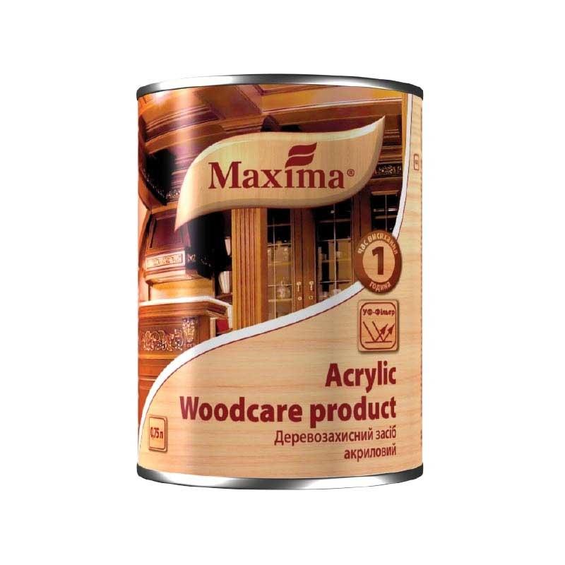 Деревозащитный средство MAXIMA Acrylic 2,5л тиковое дерево - PRORAB