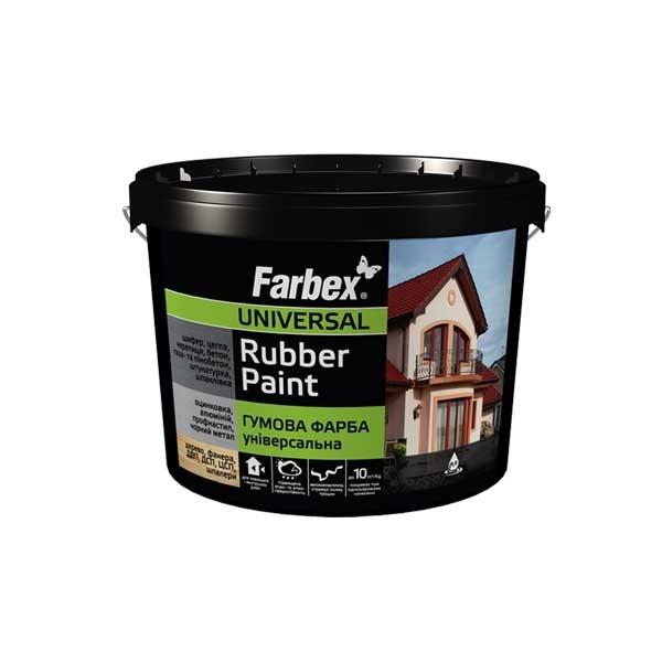 Краска FARBEX 3,5кг резиновая универсальная красная - PRORAB