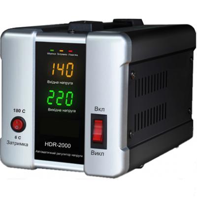 Стабилизатор напряжения FORTE HDR-1000 600 ВТ точность 8% - PRORAB image-1