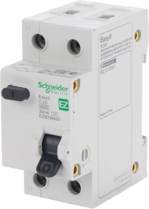 Дифференциальный автомат SCHNEIDER ELECTRIC 1р + N 20А 30мА С АС EZ9D34620 - PRORAB image-18