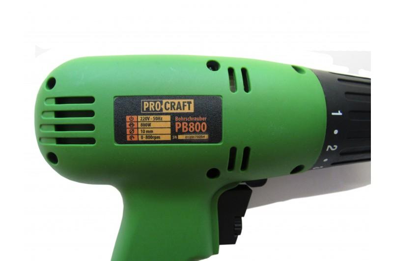 Шуруповерт Сетевой PROCRAFT PB-800 - PRORAB image-2